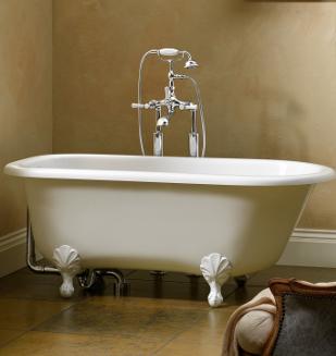 baignoire style edwardien wss avec pieds blanc nivault. Black Bedroom Furniture Sets. Home Design Ideas