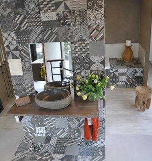 Collection 1900 carrelage aspect carreau ciment nivault - Carreau ciment noir et blanc ...