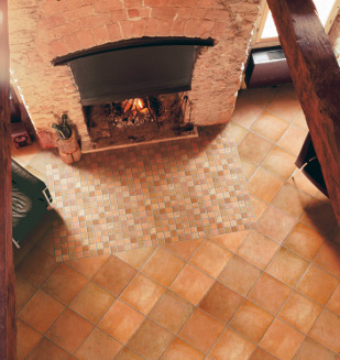 Carrelage aspect terre cuite Palerme Lupo 115