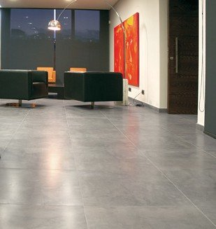Carrelage aspect b ton cir liss brut d coffr nivault for Carrelage salle de bain effet beton