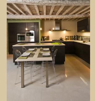 Cuisine am nag e integra nivault caen for Table de cuisine plan de travail