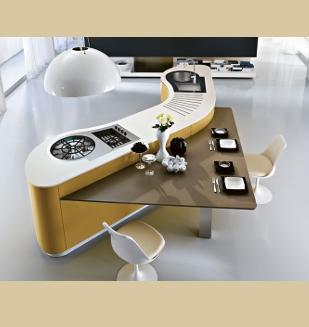 cuisine design dune meuble galb arrondi pedini by nivault. Black Bedroom Furniture Sets. Home Design Ideas