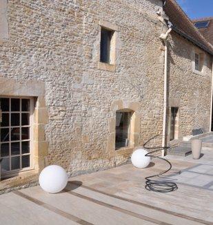 Am nagements exterieurs terrasse dallage nivault for Pose de carrelage exterieur sur chape beton