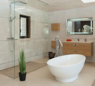 Salle de bain chez nivault caen for Meuble salle de bain douche