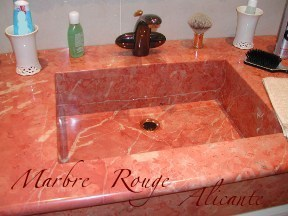 Vasque en marbre rouge Alicante