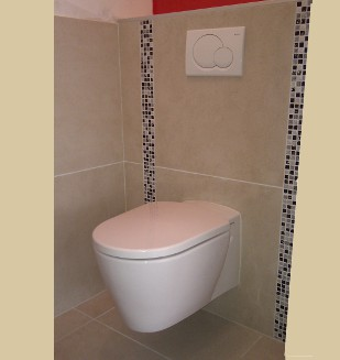 Carrelage toilette design - Carrelage wc design ...