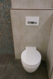 Salle de bain wc suspendu et b ti support nivault for Photos wc suspendu