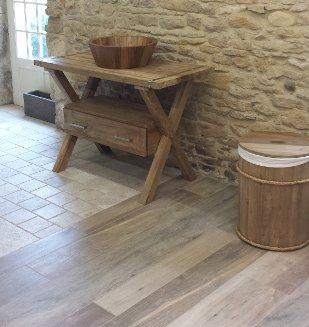 Meuble salle de bain rustique salle de bain provencale for S s bains ias