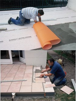 Pose de carrelage pour terrasse nivault for Dtu pose carrelage colle