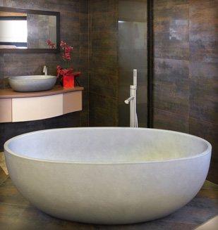 salle de bain chez nivault à caen - Salle De Bain Baignoire Ilot